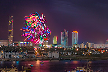 One Year Anniversary Fireworks Show - Ocean & Hard Rock