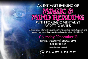 Magic & Mind Reading with Forensic Mentalist Scott Xavier