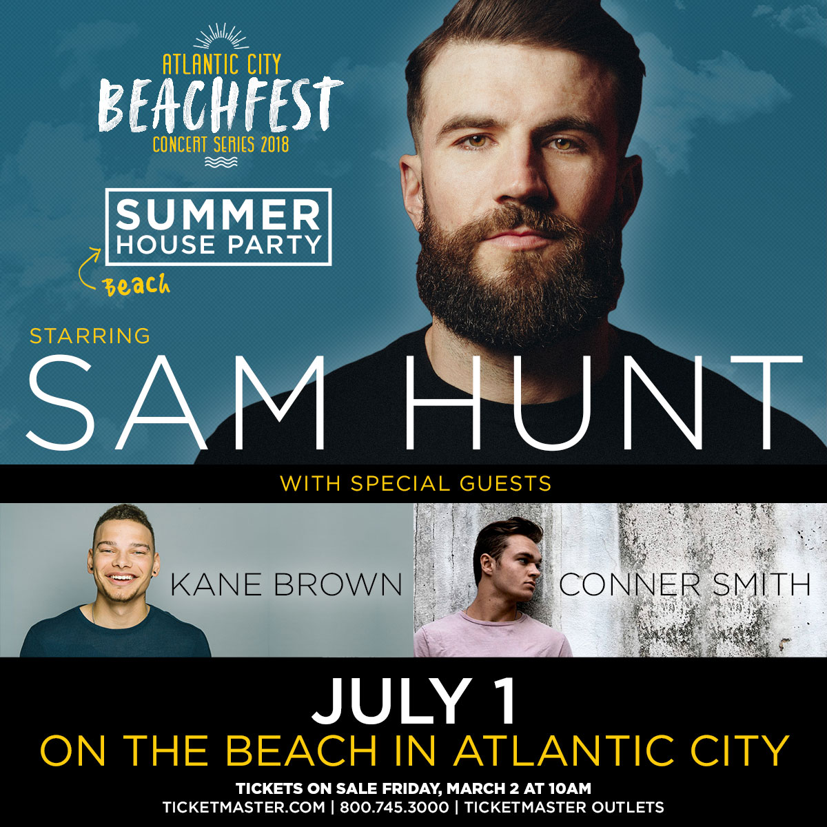 Sam Hunt - Atlantic City Beach Concert