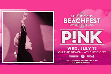 Pink Concert on the AC Beach