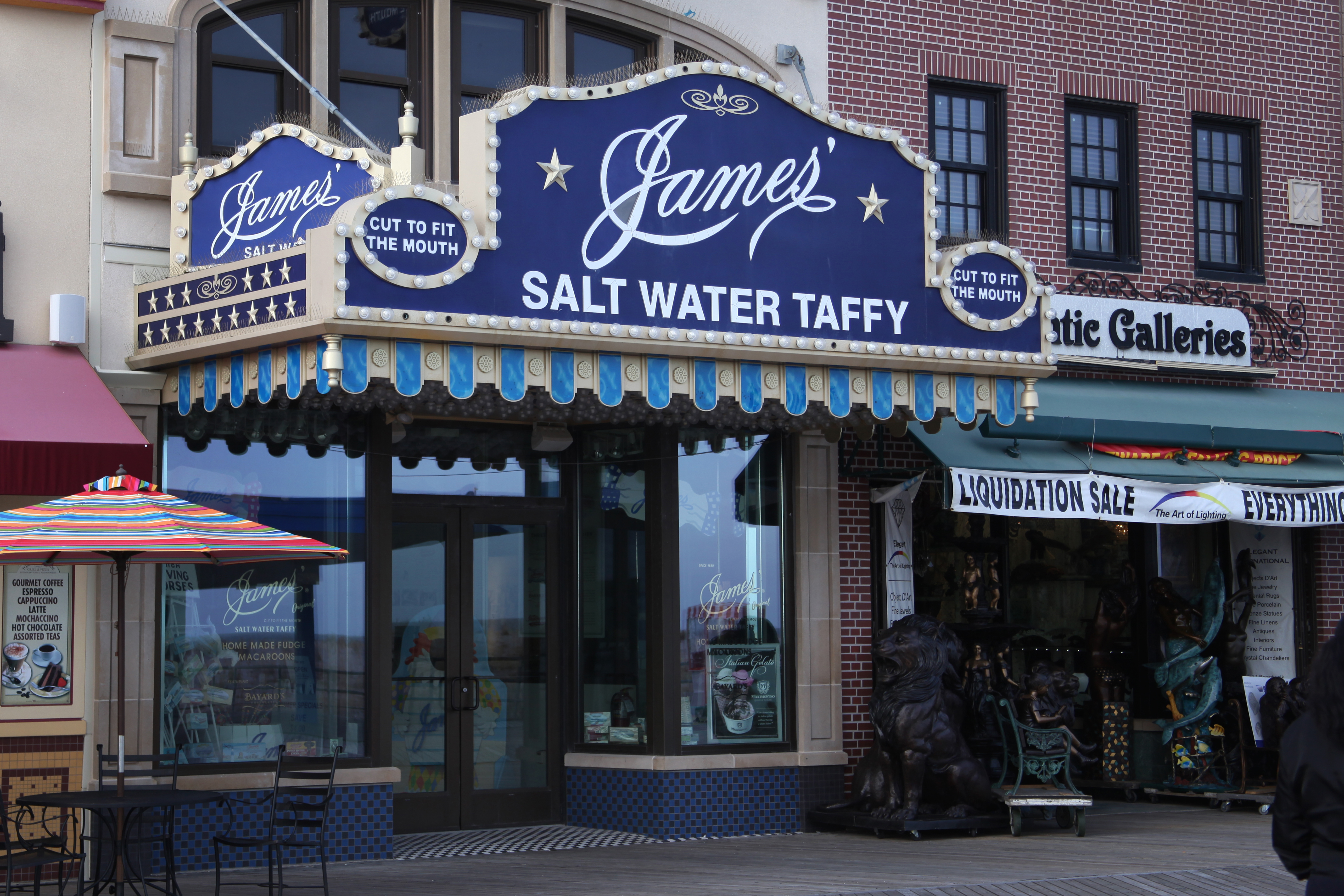 Fralinger's Taffy - James' Taffy - Atlantic City Salt Water