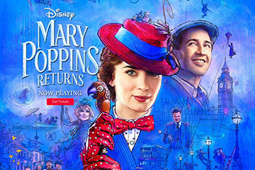 Disney Mary Poppins Returns Movie Poster