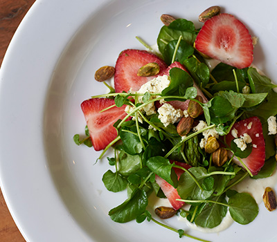 Strawberry Salad with Pistachios