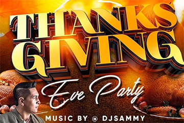 Thanksgiving Eve Party with DJ Sammy
